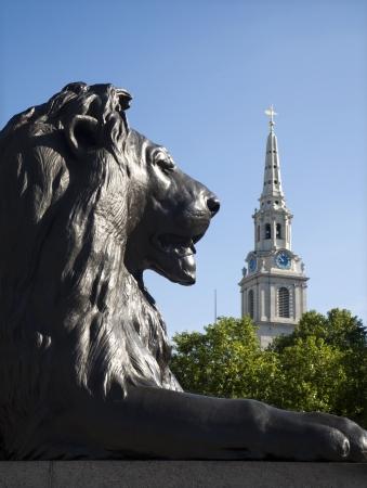 London - lion from Nelson memorial on Trafalgar square  Stock Photo - 15892518