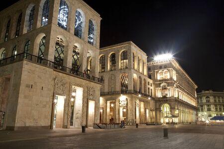 twentieth: Milan - Palazzo dell Arengario - Museum of the Twentieth Century at night