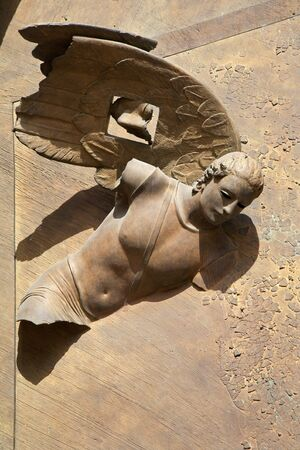 Angeli: Rome - detail from gate of Santa Maria degli Angeli basilica