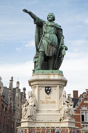 jacob: Gent - Jacob van Artevelde memorial by Pieter Devigne  Editorial