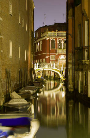 venice - canal at night Stock Photo - 16623529