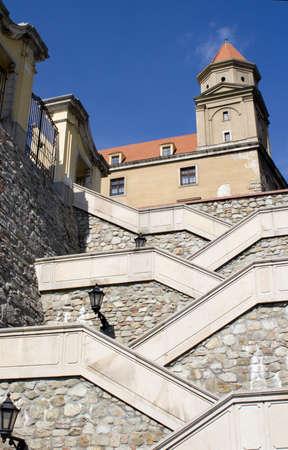 stair well: Bratislava - castle stairs