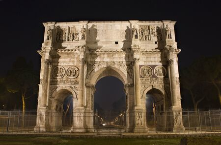 constantine: Rome - Constantine triumph arch at night