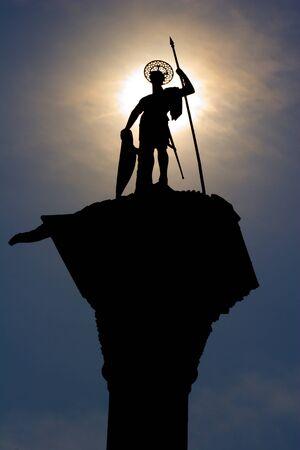 Venice - silhouette of st  Mark statue Stock Photo - 16554223