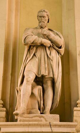 colourer: Vienna - Michelangelo statue from facade of museum of art Editorial
