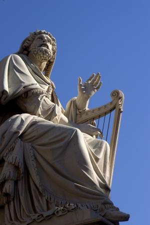 Rome - statue of king David form Virgin Mary cloumn - Piazza di Spagna Archivio Fotografico