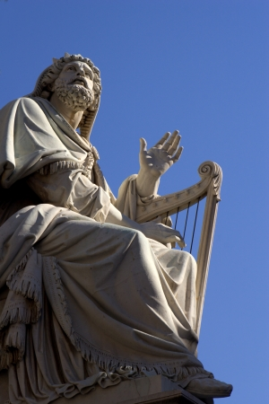 Rome - statue of king David form Virgin Mary cloumn - Piazza di Spagna Stock Photo