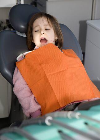 spunk: fear of little girl  Stock Photo