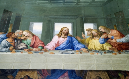 Last Supper of Chris from Vienna church - Michaelskirche  Editorial