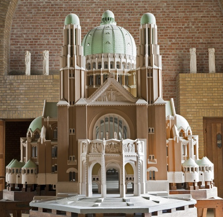 BRUSSELS - JUNE 22: Model of National Basilica of the Sacred Heart in the interior on June 22, 2012 in Brussels. Stock Photo - 16628708