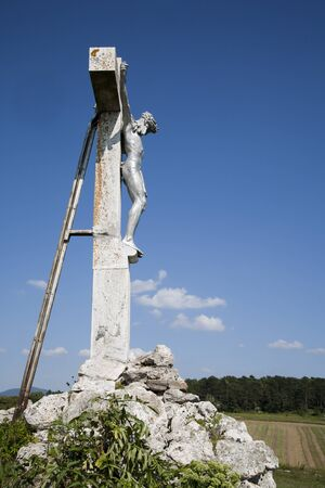 Jesus on the cross from middle Slovakia photo