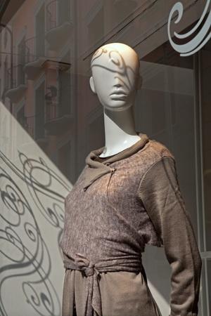 shopwindow: Milan - dummy in shop-window  Stock Photo