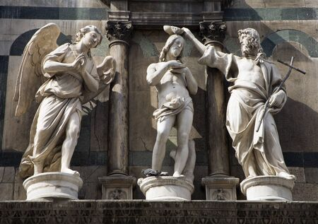 statuary: baptism of christ - statue from Florence - baptistery of st  John