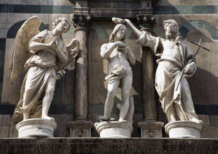 religiosity: baptism of christ - statue from Florence - baptistery of st  John