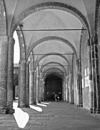 atrium: Milan - atrium of San Ambrogio - Ambrosius church Stock Photo