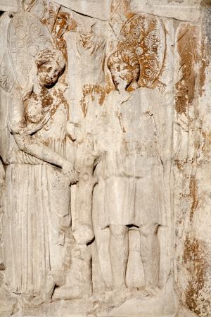 constantine: Rome - relief from constantine triumph arch