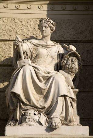 statuary: mythology from Vienna - statuary goddess Stock Photo