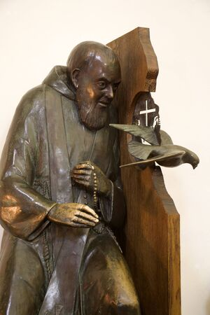 Florence - Father Pio statue