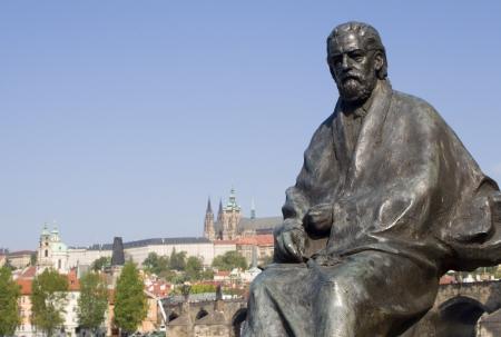 Bedrich Smetana statue from Prague - composer  Stock Photo - 17003501