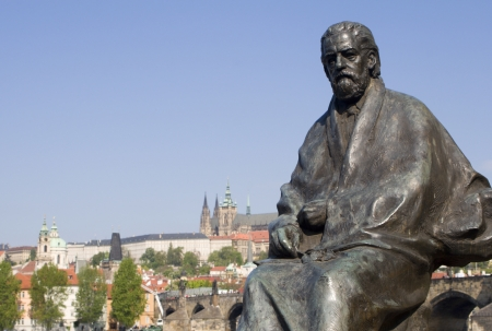 Bedrich Smetana statue from Prague - composer  Stock Photo - 17003501
