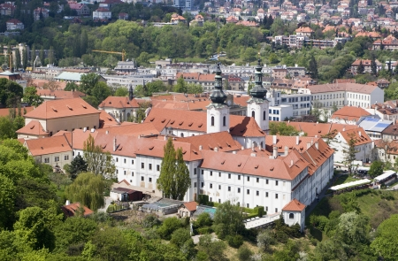 strahov monastery in prague - look from outlook-tower