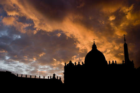 Rome - sunset - montage  Stock Photo - 17013541