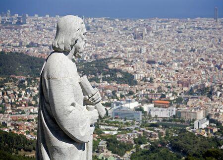 tibidabo: Barcelona - holy over town - Tibidabo