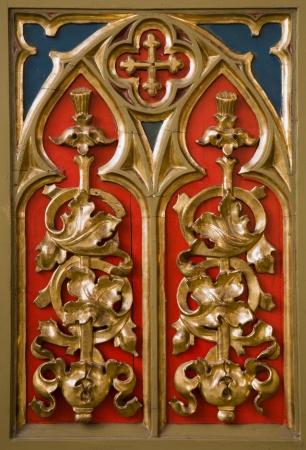 Banska Stiavnica - detail from altar in st  Katharine church  Stock Photo - 17268526