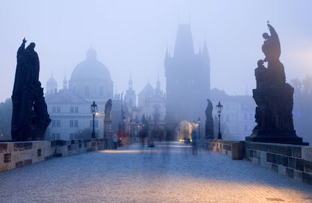Prague - Charles bridge in the morning  Stock Photo - 17267333