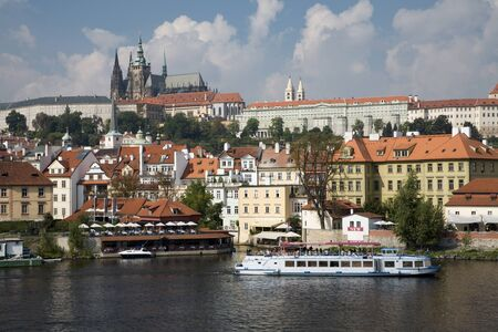 vitus: cathedral of st  vitus - prague and the river
