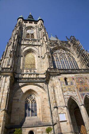 vitus: Prague - st  Vitus cathedral - south facade