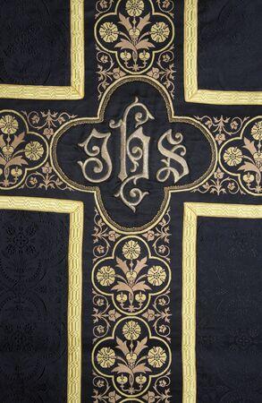 vestment:  cross - detail from funerally vestment