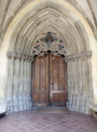 jacob: Levoca - south entry of st  Jacob gothic church