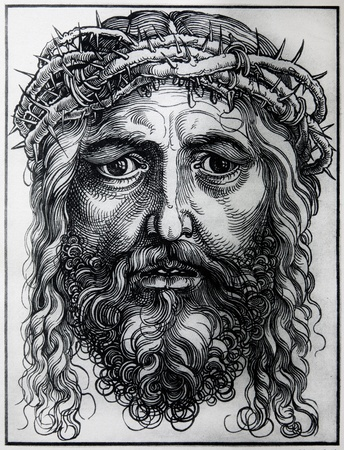 durer: GERMANY - 1928  Lithography of Head of Jesus Christ by Albert Durer  Book   Durer als Fuhrer  published by Josef Muller, Munchen, Garmany 1928