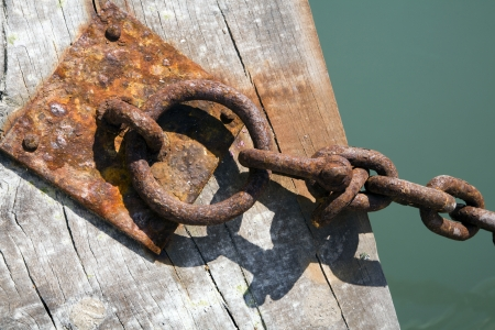 catena:  Venice - detail of chain from harbor  Stock Photo