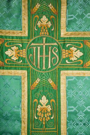 vestment:  cross - detail of vestment