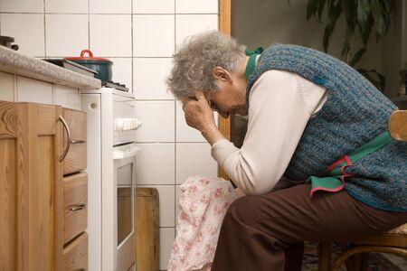 senescence:  grandmother in kitchen