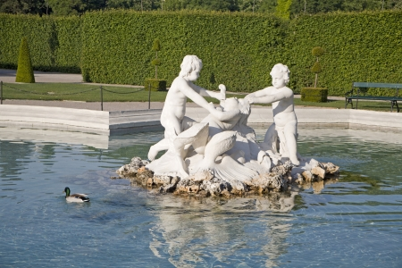 Vienna - fountain in Belvedere palace  Stock Photo - 17402093