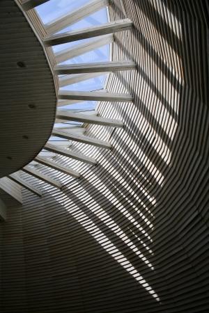 Bratislava - detail of roof from modern Minoriten church