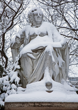 Vienna -  Franz Schubert statue in Stadtpark Stock Photo - 17554595