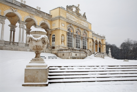 the gloriette: Vienna - Gloriette from Schonbrunn palace in winter Editorial