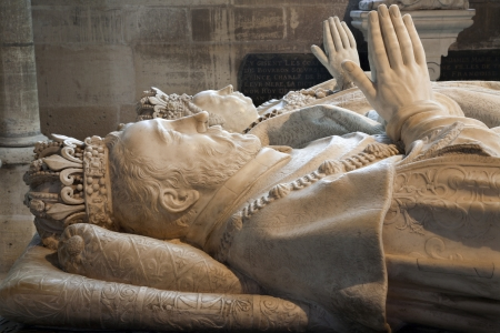 henri:  Paris - Tomb of Henri II and Catherine de Medici, from Saint Denis gothic cathedral