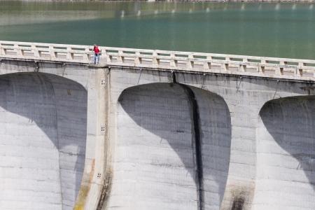 barrage:  barrage  in dolomite Stock Photo