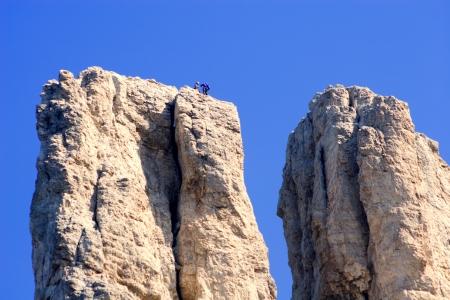 vajolet:  climbing in vajolet towers - dolomite