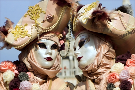 pair from venice carnival  photo