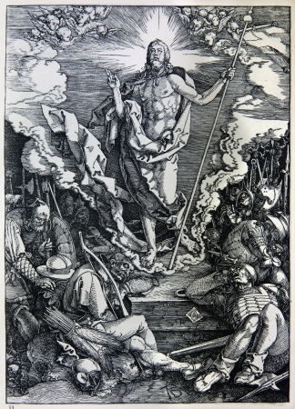 durer: GERMANY - 1928  Lithography of Christ resurrection by Albert Durer  Book   Durer als Fuhrer  published by Josef Muller, Munchen, Garmany 1928  Editorial