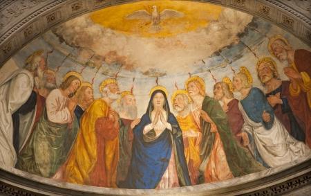 pfingsten: VERONA - 27. Januar Apsis der Kapelle Miniscalchi in Saint Anastasia Editorial