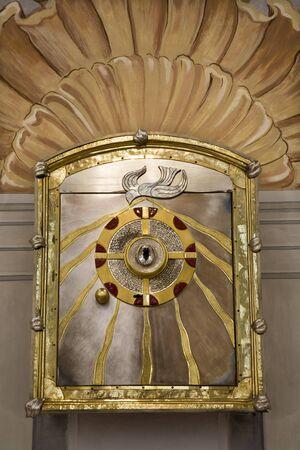tabernacle:  Gaming - Austria - modern altar - tabernacle