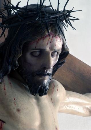 jesus on cross: Jesús en la cruz Foto de archivo