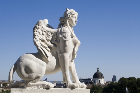 sphinx from vienna palace  photo